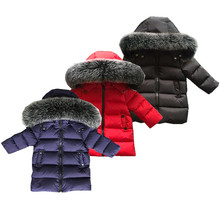 купить 2017 Winter Coat Boys clothing  2-10 years old Down Jacket For Girls clothes Children clothing Outerwear Winter Jackets Coats дешево