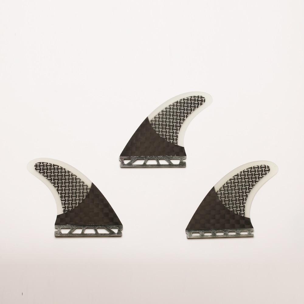 Empuñadura de alta calidad la mitad de carbono fibra de vidrio Innegra futuro Surf aletas Base G7/Insurfin negro tabla de Surf aletas Set (3) M7 - 6