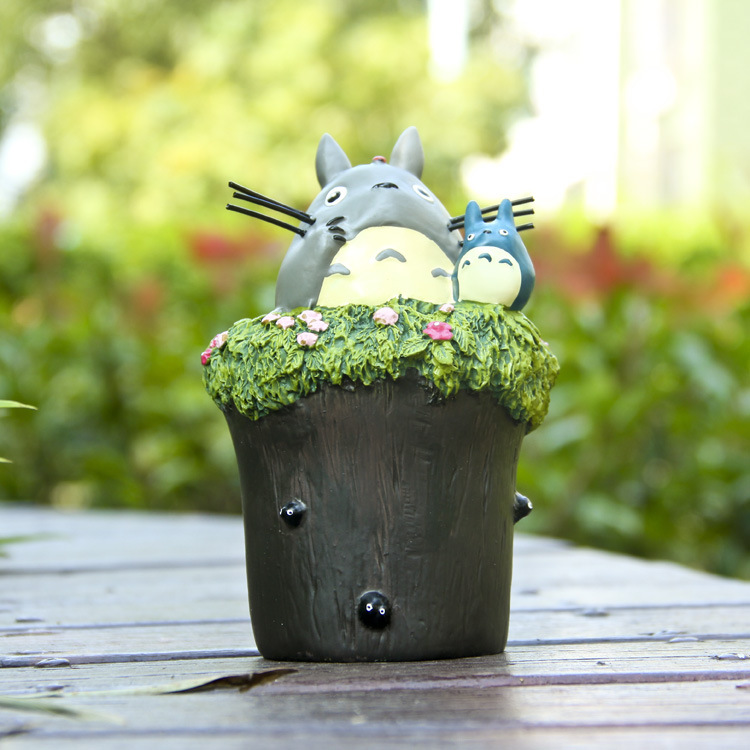 1PC 14CM Creative Christmas Gift Cute Totoro Kid Figure Piggy Bank Animation Model Toys Action Figure PVC Dolls Totoro Model animation garage kid hayao miyazaki animation model toys artbox action figure pvc dolls kiki s delivery service model kt038