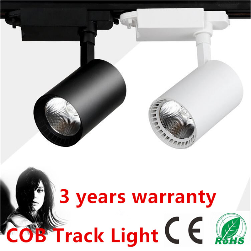 LED Rail Verlichting 20 W 30 W COB LED Track Spot Light Zwart/Wit ...