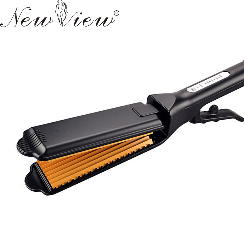 NewView Hair Straightener Flat Iron Professional Ceramic Chapinha Straightening Corrugated Curling Curler Styling Tools цена 2017