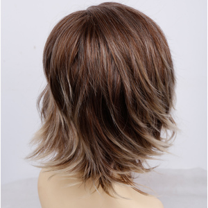 Image 5 - Amir Short Wavy Bob Wig Synthetic Hair Wigs For Women Cosplay Wigs Blown and Blonde wig