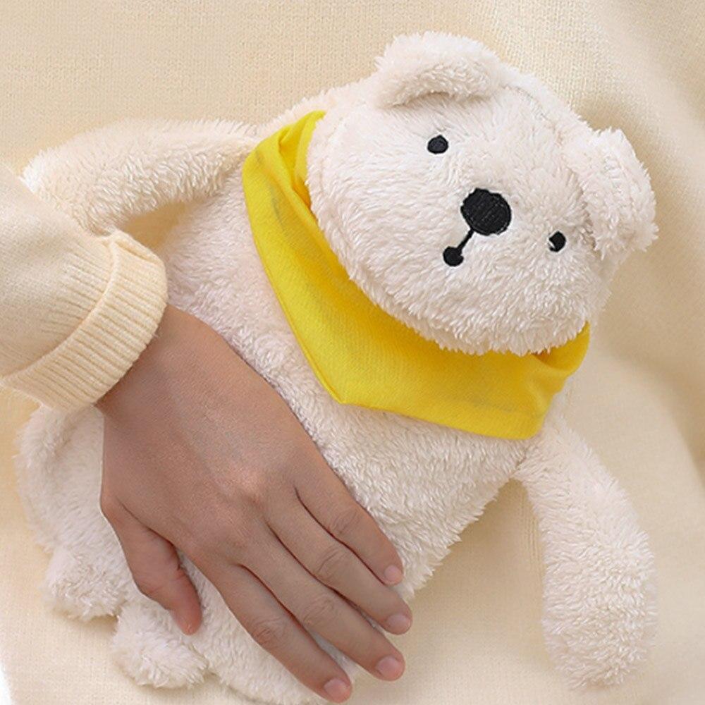 Грелка для рук теплая водонепроницаемая сумка прочная ворсовая теплая Подарочная компресс с солью кролика - Цвет: 1
