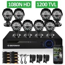 DEFEWAY 1200TVL 720 P HD Открытый Камеры Видеонаблюдения Системы 8 Каналов 1080N HDMI ВИДЕОНАБЛЮДЕНИЯ DVR Kit 8-КАНАЛЬНЫЙ AHD Камеры набор