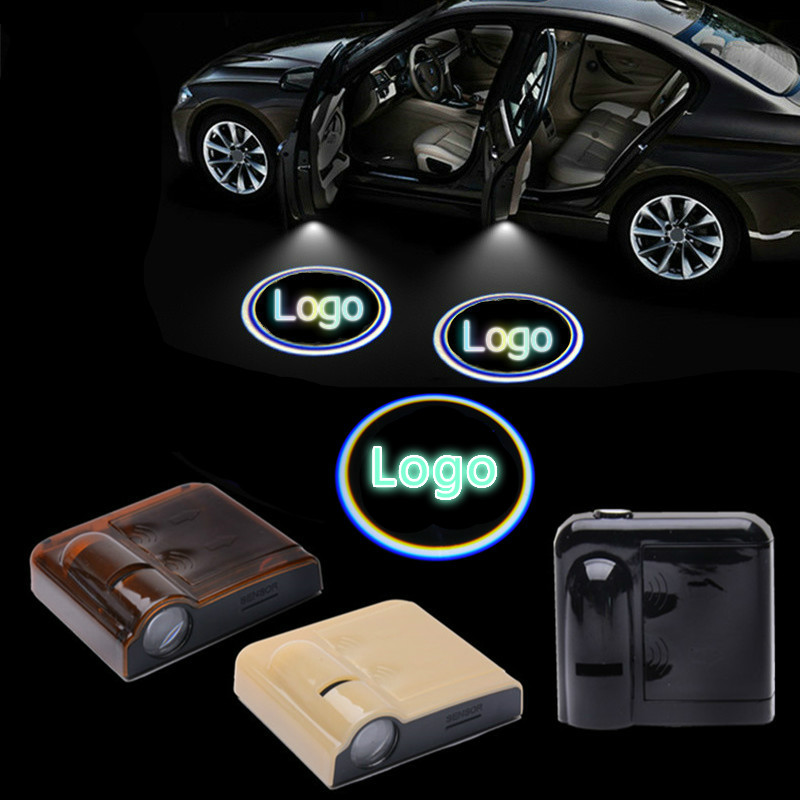 JURUS 2pcs Wireless Car Door Welcome Light Logo For Lexus Badge Lights LED Laser Ghost Shadow 3D Projector Lamp for Most Cars 2 x wireless led car door logo projector welcome ghost shadow light for suzuki swift sx4 s cross jimmy alto celerio grand vitara