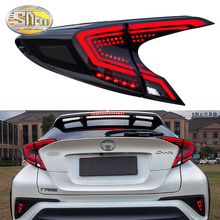 Car styling Tail Lights For Toyota CH-R C-HR CHR 2017 2018 Led Tail Lights Fog lamp Rear Lamp DRL + Brake + Park + Signal lights цена 2017