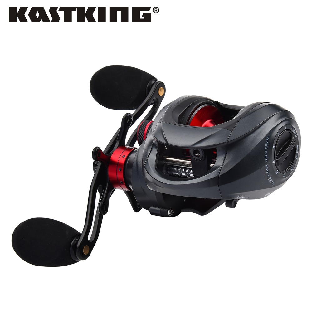 KastKing Spartacus 12 BBs Two Brake Systems Left/Right Handed 6.3:1 BaitCasting Reel 8KG Drag power Baitcasting Fishing Reel kastking spartacus low profil baitcasting reel 12 ball bearings 205g right hand left hand fishing reel