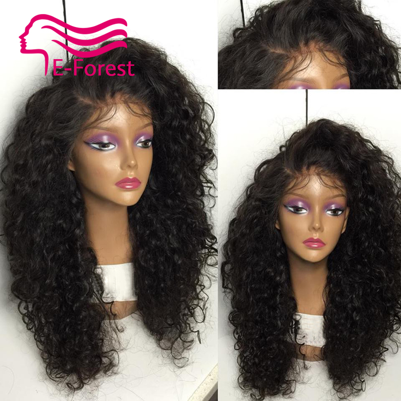 2016 new unprocessed virgin full lace front human hair wigs Peruvian glueless kinky curly with Natural