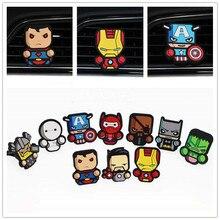 Automobile Marvel Air Freshener Outlet Avengers Cartoon Hulk Thor Iron Man Logo Vent Natural Perfume Auto Interior Accessories