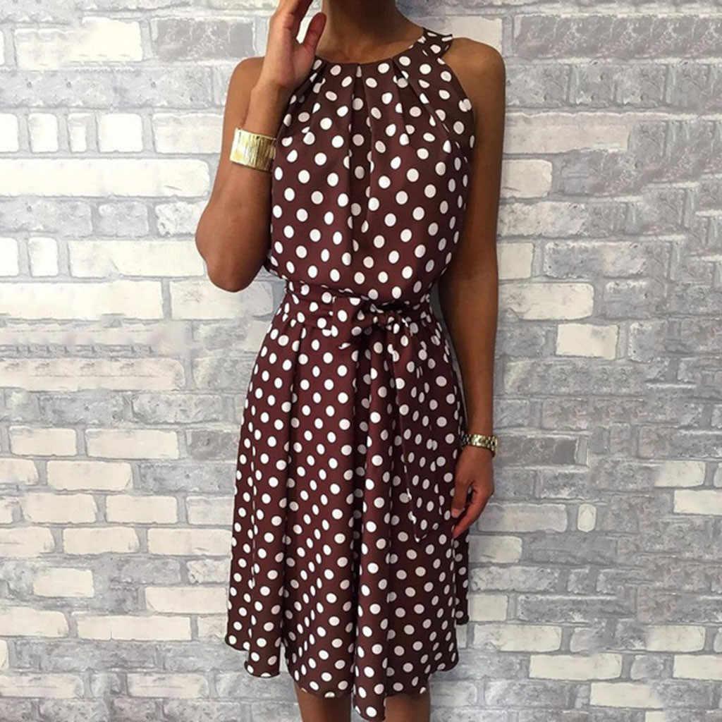 Асимметричное Платье с бретельками и оборками в горошек, женское сексуальное летнее платье с открытыми плечами, 2019 богемное пляжное платье, женский сарафан
