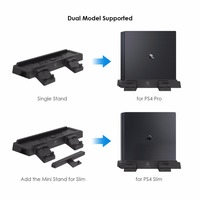 GameSir W60P430 For PS4 Pro Slim Vertical Console Stand With Dual Controller Holder Stati Additional 2