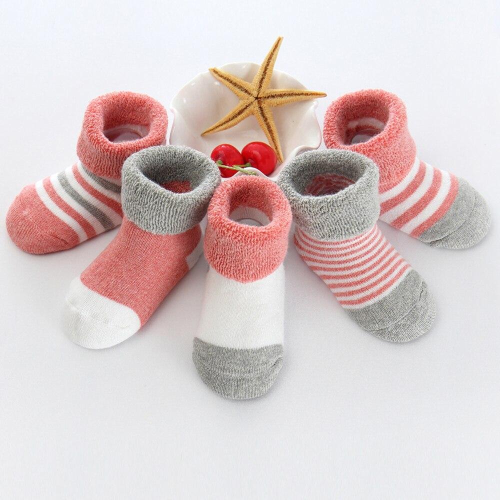 Носки; 5 пар; носки для малышей; короткие носки; противомоскитная Одежда для девочек; удобные милые детские носки; мягкие носки для мамы - Цвет: pink