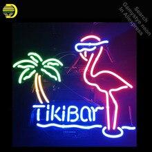 a141a9d14d4738 Tiki Bar Pink Flamingo Palm Tree Neon Sign Basketball neon bulb Sign Glass  Tube neon light
