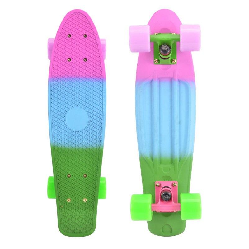 74l-68 Бесплатная доставка три цвета радуги рыбы банан пластина peny Новый Скейтбординг ролик waveboard скейтборд