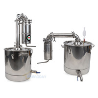 New Stainless Steel Moonshine Home Alcohol Distiller 50L Wine Brewing Device Spirits Alcohol Distillation Boiler