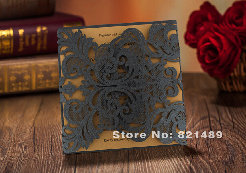 Buy Wedding Invitation Cards Online: Aliexpress.com : Buy Black Wedding Invitations, Unique