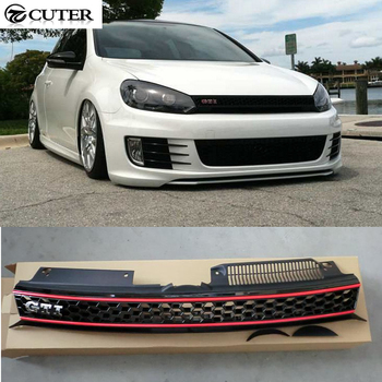Golf 6 MK6 GTI Racing Grills ABS car mesh grille for Volkswagen VW JETTA MK6 front bumper 11-13 grille