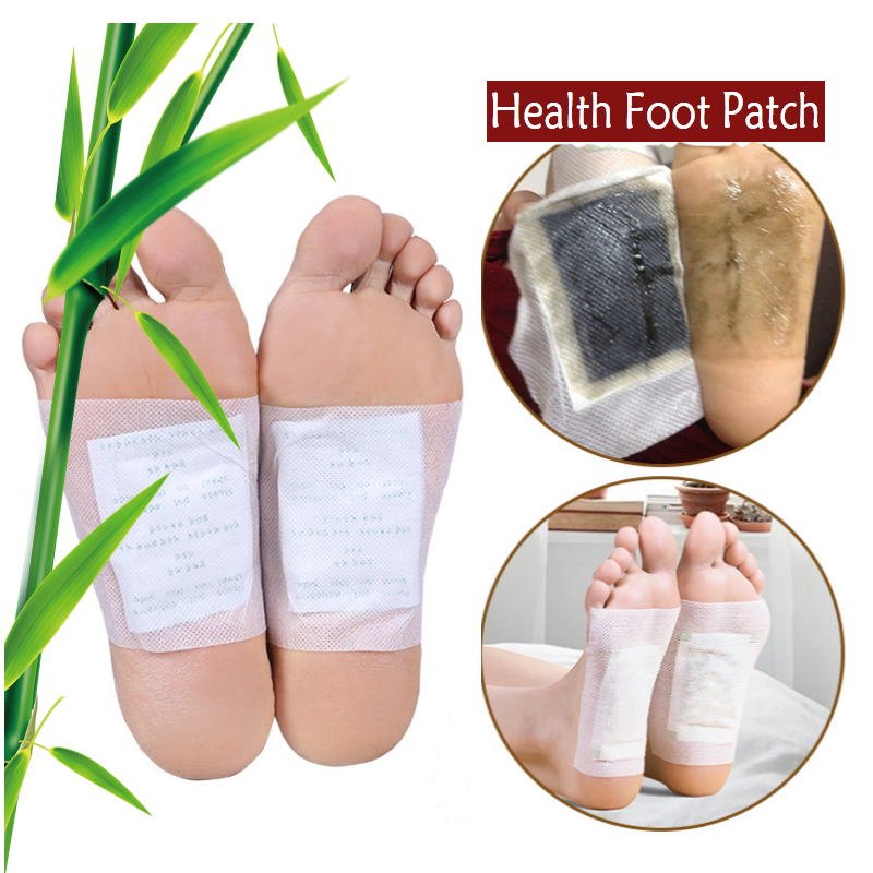 20pcs=(5 Pairs) (10pcs Patches+10pcs Adhesives) Detox Foot Patches Pads Body Toxins Feet Slimming Cleansing HerbalAdhesive