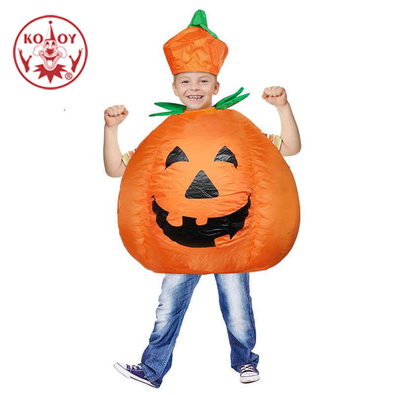 Halloween Inflatable Costume Kids Pumpkin Outfit Clothes for 3 to 10 years old Children