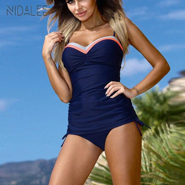 d3883b8ec0 2018 New Sexy Bikini push up Women's Plus Size Suits Swimsuit Pure color  Swimsuit Beach Holiday Women's swimwear M-XXXL