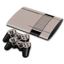 1 Conjunto de Transporte da gota Vinyl Decal Adesivos de Pele para PS3 Super Slim 4000 + 2 PCS Adesivos para PS3 Controlador pele