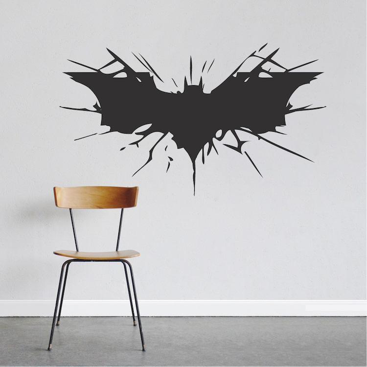 Batman Wall Decal Boys Bedroom Removable Animal Wall Stickers Black  Silhouette Decals Decor 40 Colors Available Decoration ZA780 In Wall  Stickers From Home ...
