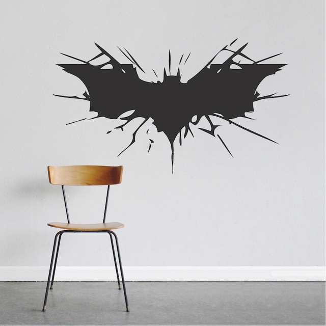 Batman Wall Decal Boys Bedroom Removable Animal Wall Stickers Black Silhouette Decals Decor 40 Colors Available  sc 1 st  AliExpress.com & Batman Wall Decal Boys Bedroom Removable Animal Wall Stickers Black ...