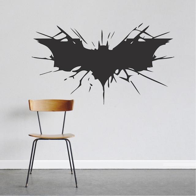 batman wall decal boys bedroom removable animal wall stickers black