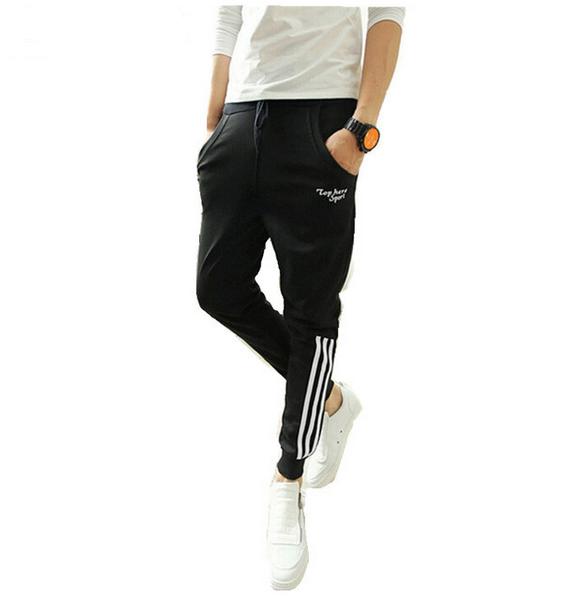 Harem Pants Suor Calças De Compressão dos homens Calças de Carga Casuais Calças Da Marca de Moda
