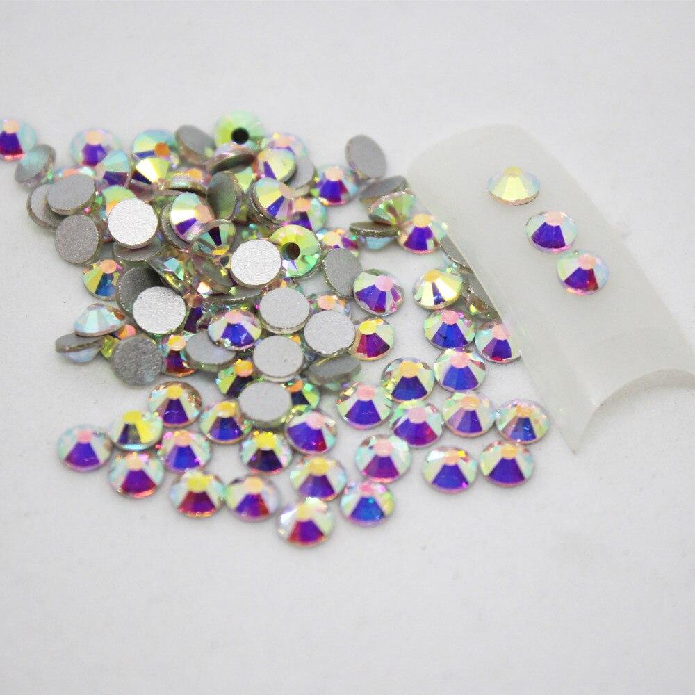 Nail Rhinestones for Nail Art Crystal Glass Stones 3D Nail Art Decoration SS3-SS10 Flat Back Non Hot Fix Gems nails accessoires