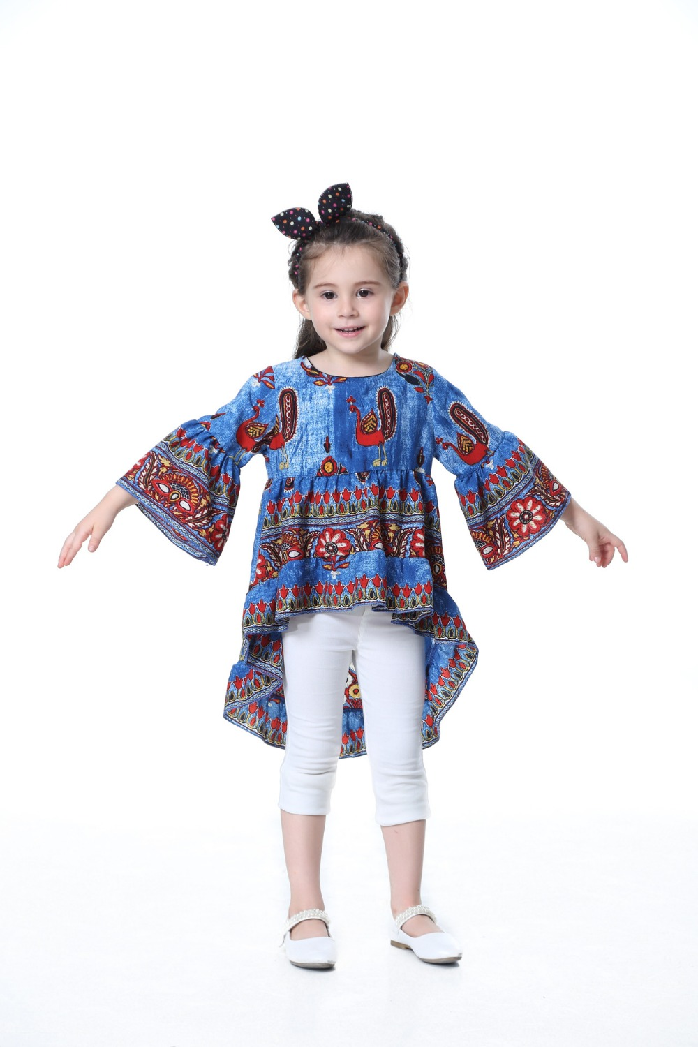 TTONCEN Fashion Autumn Baby Princess Dress Cartoon peacock fairy - Ropa de ninos - foto 3