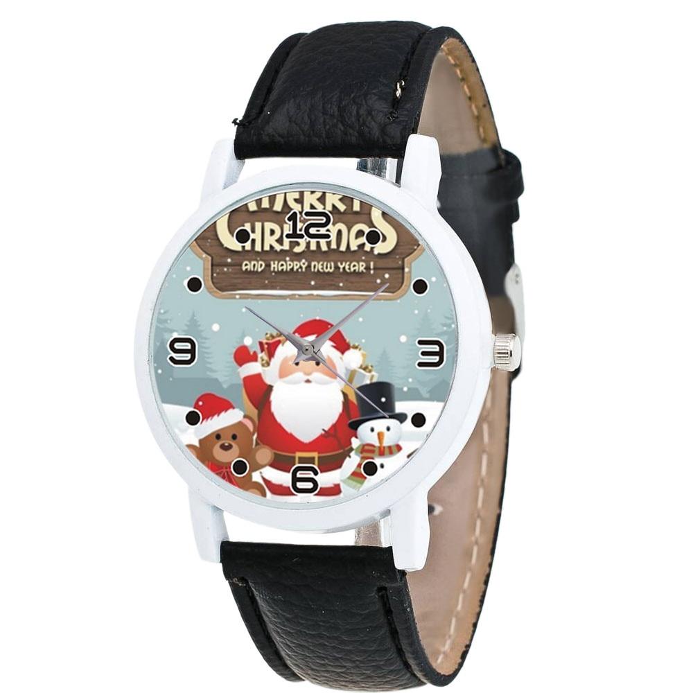 Sanwony Women Watch Christmas Diamond Leather Band Analog Quartz Vogue Wrist Watches Gif watch women 2018 Christmas watch