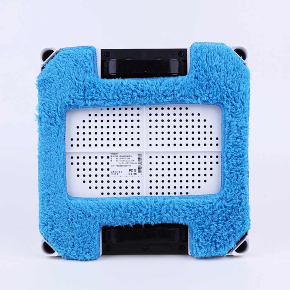 4 pçs/lote 2 pcs mop molhado + 2 pcs mop seco para hobot 268 janela de vidro limpo mop pano chorão janelas pano de microfibra Cleaner Parts