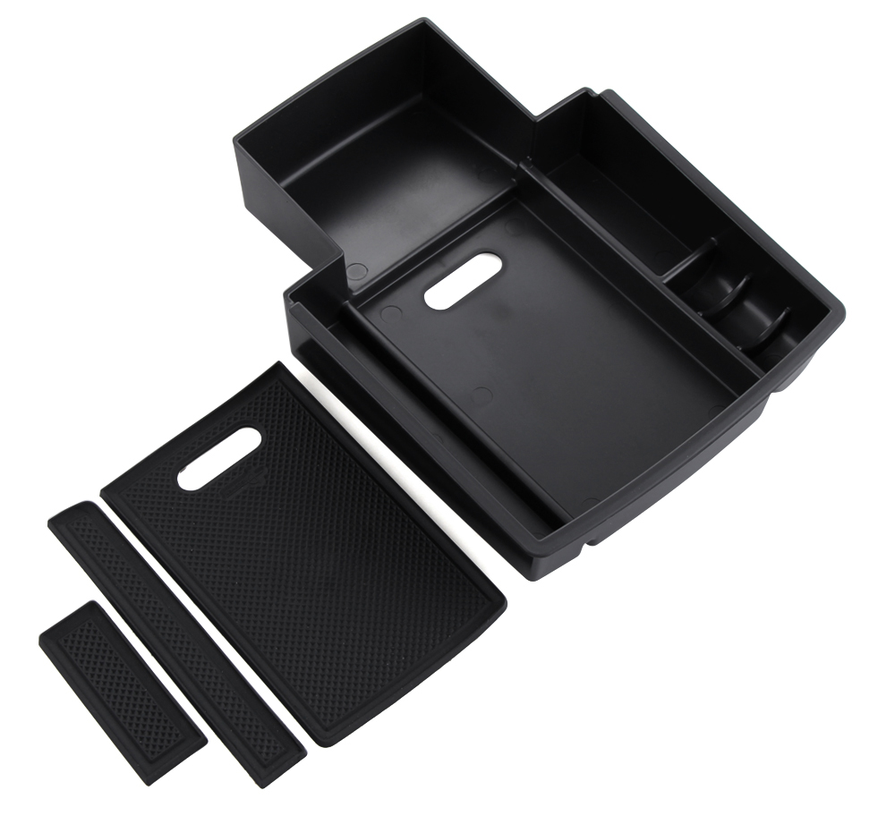 Image 3 - For Audi A4 B8 A5 S5 2009 2016 Central Armrest Storage Box Container Holder Tray Car Organizer Accessories Car Styling-in Car Stickers from Automobiles & Motorcycles