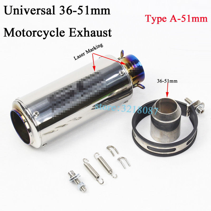 Image 4 - Universal 51mm 61MM Motorcycle Exhaust Pipe Escape Modified Dirt Bike Laser Marking Muffler For CBR1000RR S1000RR Ninja300 R6-in Exhaust & Exhaust Systems from Automobiles & Motorcycles
