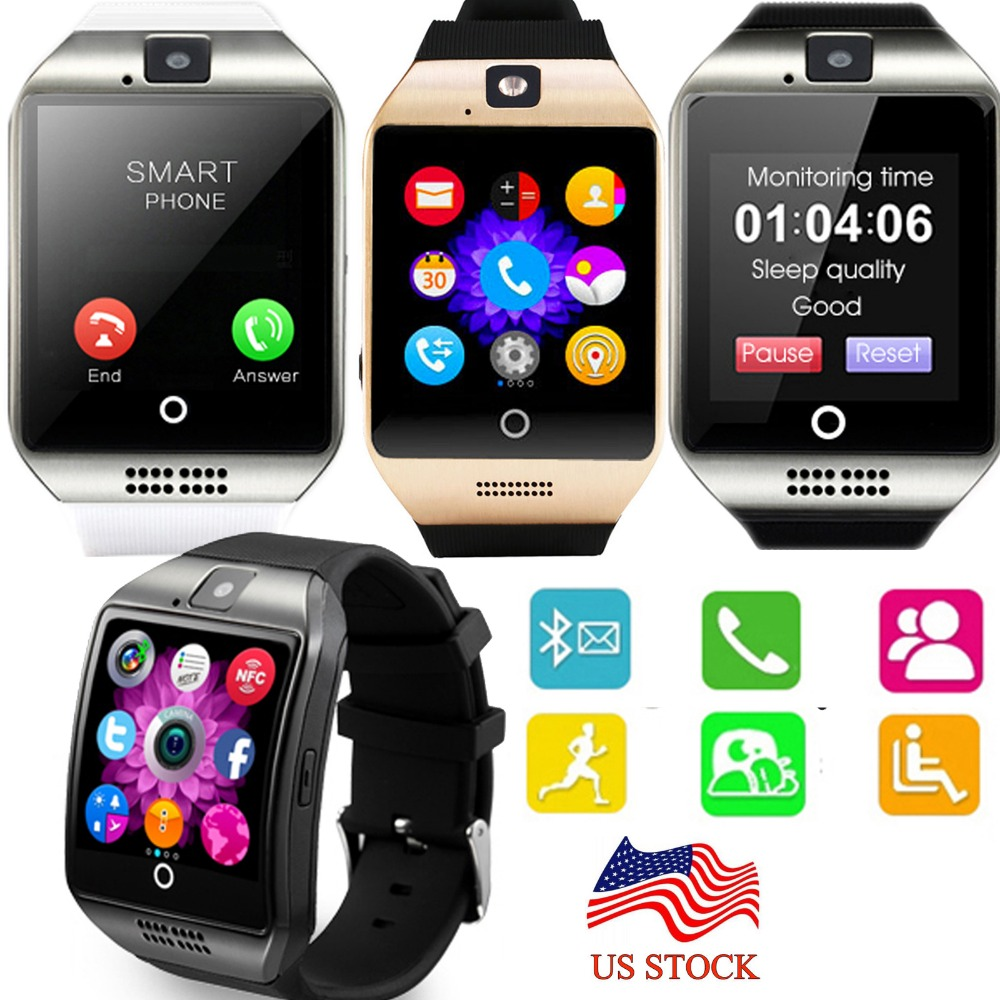 NFC Screen Touch Bluetooth <font><b>Smart</b></font> Wrist Watch <font><b>Phone</b></font> For Android Samsung S8 S7 <font><b>Motorola</b></font> Z LG <font><b>G5</b></font> HTC Huawei Lenovo iPhone 7 Plus