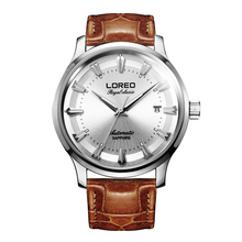 LOREO sapphire glass men's automatic mechanical calendar hollow diamond business simple fashion casual waterproof men watch