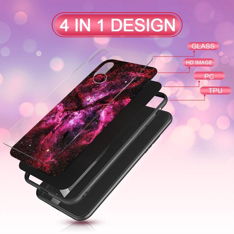 Luxury Glass Case For Xiaomi Redmi Note 6 5 Pro 4X 6 Pro Case For Xiaomi Mi A2 Lite Star Space Case Silicone Coque Artisome (3)