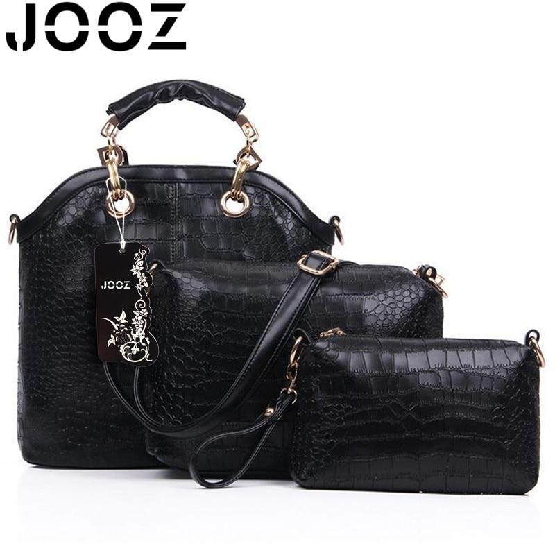 JOOZ Brand Luxury Lady Bag Alligator Female Handbags 3 Pcs Composite Bags Women Shoulder Crossbody Messenger Bag Clutch Wallet