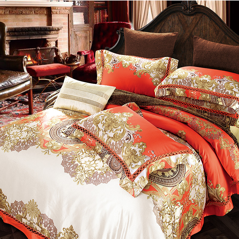 2017 Bedding Set Luxury Bedding Sets Cotton High Quality Jacquard Comfortable Bedding Duvet Cover Bed Sheet