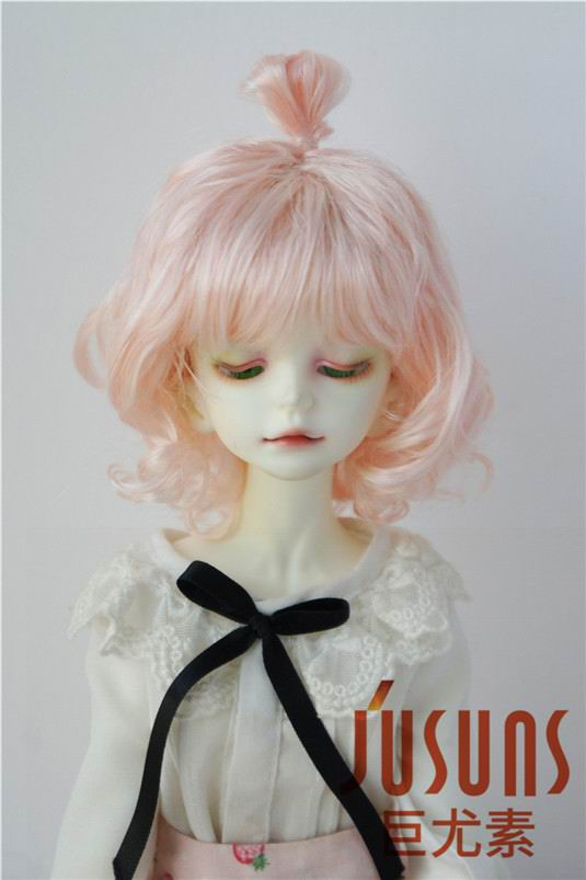 JD375 1/4 New Style Cute Up Wave Synthetic Mohair BJD Doll Wigs 7-8 inch Fashion Doll Accessories on Sale 25cm 100cm doll wigs hair refires bjd hair black gold brown green straight wig thick hair for 1 3 1 4 bjd diy
