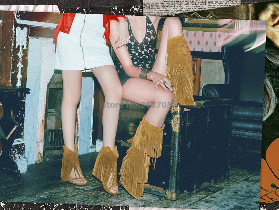 Hot-Sale-Knee-High-Boots-Women-Brown-Pink-Suede-Fringe-Boots-Chunky-Heels-Shoes-Woman-Pointed (2)