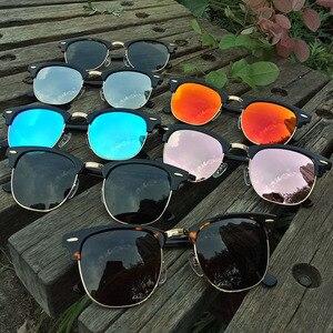 Image 2 - زجاج عدسة الكلاسيكية نظارات شمسية كلاسيكية الرجال النساء خلات الإطار الفاخرة العلامة التجارية تصميم نظارات شمسية القيادة gafas نظارات oculos دي سول