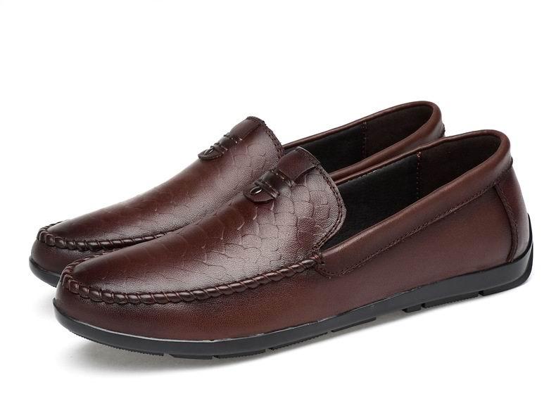 Para On New O Preto 47 Shoes Lazer Arrival Preto Tamanho Mais 37 Condução Redondo Preguiçoso Dedo marrom Sapatos Pé Slip Errfc Homens Flats Do De Marrom Designer Homem YaqZYd