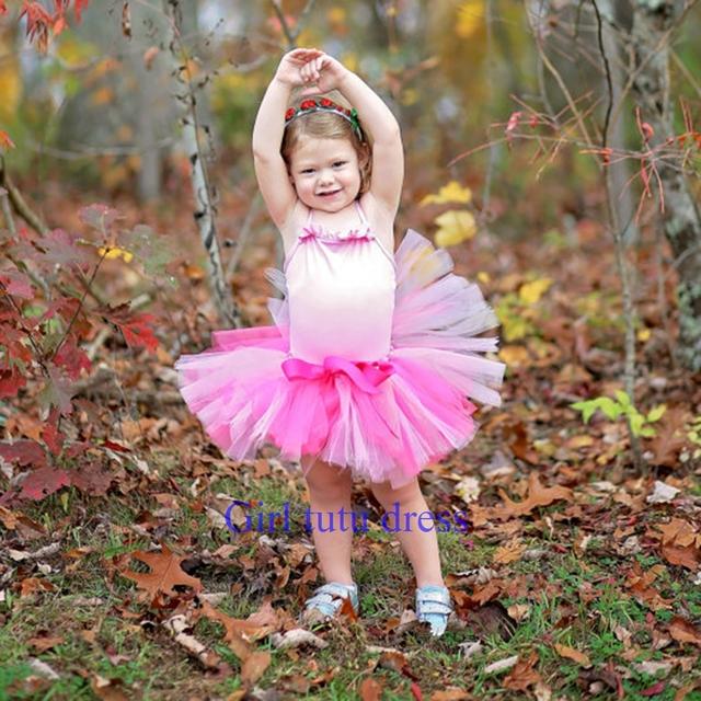 Rosa, rojo color de rosa luz tutú de la falda, Tutu 2, 3, 4, apoyo de la foto, Tutú Del cumpleaños, 7 T, 8 T, 9 T, tutú del niño, falda de la Danza