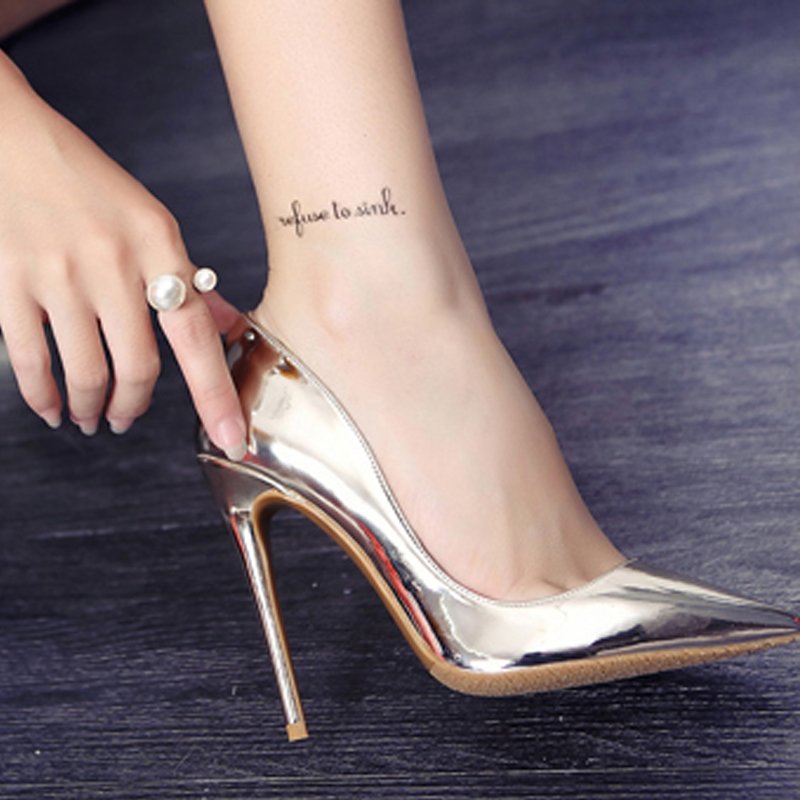 624b5827a9a Brand Shoes Woman High Heels Pumps Gold High Heels 12CM Women Shoes High  Heels Wedding Shoes Pumps Big Size Shoes-in Women s Pumps from Shoes on ...