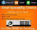 Newest Built-in Android Full HD 1280*800 Perfect shutter 3D Projector Beamer,Convert 2D to 3D Pocket Mini DLP  Projectors