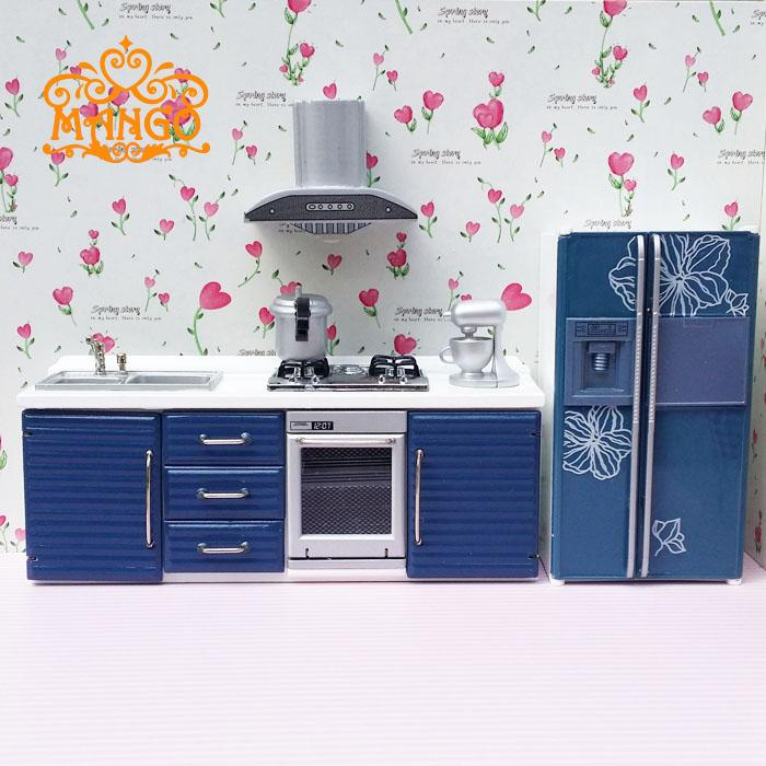 1:12 Dollhouse Miniatures Furniture re-ment Refrigerator hearth integral kitchen lampblack machine игрушки для кукольных домиков re ment re ment 10 11