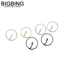 BIGBING jewelry fashion golden silver black circle stud earring set good quality fashion earring free shipping V234(China)