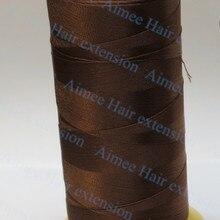 Ткацкие нити для машины наращивание волос профессиональные инструменты коричневый 1 шт. шпилька для волос линии 4 типа ткацкая игла в подарок